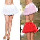 Plus Size Lingerie Halloween One SZ Queen Black Pink Red White Petticoat 10201X