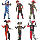 Boys Scary Clown or Halloween Child's Jester Costume
