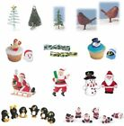 Christmas Cake Decorations (Picks/Santa Topper/Figures/Xmas/Snowman/Rings/Robin)
