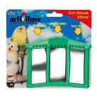 JW PET BIRD TOY FUN HOUSE MIRROR PARAKEET COCKATIEL CANARY. FREE SHIP TO THE USA