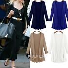Womens Waterfall Long Sleeve Cardigan Long Tops Trench Duster Coat Jacket NEW S