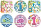 """1st Birthday 9"""" Round/Square Plates (First/Boy/Girl/Party/Tableware) (Unique)"""