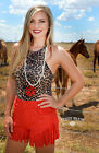 Crazy Train Any Fringe Of Mine Fringe Faux Suede Shorts Cowgirl Small-3XL Red