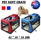 XL Portable Foldable Pet Carrier Soft Crate Dog Cage Kennel Travel Bag Red/Blue