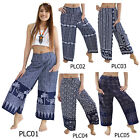 Pants PLC1 Thai Cotton Wing Harem Genie Aladdin Long Casual Comfy Women Trousers
