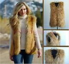 Warm Womens Outwears Coat Short Jacket Tops Faux Fur Vests Sleeveless Chic Hot