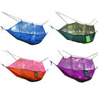 Portable Parachute Fabric Mosquito Net Hammock for Indoor Outdoor Double Person