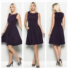 NWT BLACK SLEEVELESS BOUTIQUE DRESS WITH SIDE POCKETS  SMALL MEDIUM LARGE