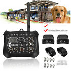 All in Wireless Dog Training Shock Collar Fence No-Wire Pet Trainer 2-Dog System