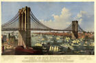Brooklyn Bridge New York Vintage Poster Reproduction of East River FREE SH