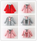 Kids Child Baby Girls Warm Winter Outerwear Hooded Coat Cotton Jacket Clothes