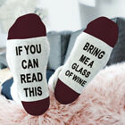 1 Pair Women Men If You Can Read This Bring Me a Beer Socks Unisex Cotton Sock B