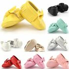 Newborn Baby Toddler learn shoes Infant Tassel Shoe PU-Leather Crib-Shoe 0-18M
