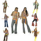 Men's & Ladies 60's 70's Hippy Outfit Fancy Dress Costume