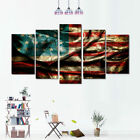 5pc/set Home Canvas Wall Decor Art Painting Picture Print American Flag No Frame