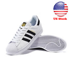 Hot Mens Women's Sport Casual Lace Up Sneakers Stripe Trainer Shoes Superstar