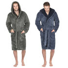 Pierre Roche Mens 2Tone Luxury Supersoft Dressing Gown Robe