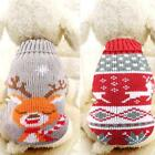 Dog Warm Turtleneck Sweater Elk/ Deer Pattern Pet Holiday Classic Knit B20E
