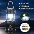 Solar Power Camping Hiking Rechargeable LED Lantern Tent Hanging Light Lamp