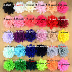 Fold Chiffon Fabric sewing Hair Flowers Appliques 10CM 4 In Clothing Accessories