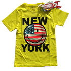 Relaunch T-Shirt New York Smiley gelb USA  92 104 116 128 134 140 152 15 NEU