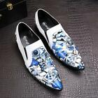 Mens Mixed Color Pointed Toe Stage Party Dress Shoes Faux Leather Clubwear