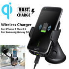 Qi Wireless Car Charger Windshield Dashboard Holder Stand for Samsung S9 Iphone