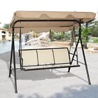 Garden Outdoor 3 Person Family Canopy Glider Hammock Porch Swing Bench Chair US