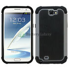 Hybrid Rugged Rubber Matte Hard Case Cover Skin for Samsung Galaxy Note 2