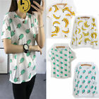 Fashion Women Cute Cartoon pattern long&short T-shirts print Casual Top Blouse S