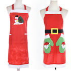 Christmas Santa Claus Apron  Decorations for Home Red Pinafore kitchen tools JR