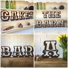 "12"" RUSTY CARNIVAL letters metal rustic shop sign lettering vintage shabby chic"