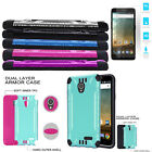 Phone Case for ZTE Prelude Plus Tempered Glass Textured Dual-Layered Cover