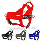 NEW service dog harness large Safe Nylon pet pitbull boxer Soft/Vest Harness