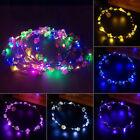 8 Colors Boho Style LED Floral Flower Hair Band Headband Light-Up Wedding Party