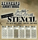 Tim Holtz® Layering Stencils by Stampers Anonymous Christmas 2017 stencils  NEW!