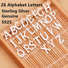 Genuine S925 Sterling Silver Alphabet A-Z Necklace Bracelet Charm Christmas Gift