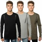 Loyalty & Faith Mens Long Sleeve T-Shirt Crew Neck Graphic Zip Branded Tee Top