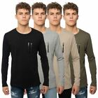 Loyalty & Faith Mens Designer T Shirt Long Sleeve Crew Neck Zip Pocket Tee Top