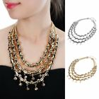 Fashion Jewelry Punk Crystal Silver Gold Chain Collar Statement Necklace Pendant