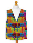 Christmas Novelty Waistcoat Fun Fancy Dress Informal Colourful Presents All Over