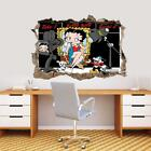 Betty Boop 3D Smashed Wall Sticker Decal Home Decor Art Mural J887 $19.26 CAD on eBay