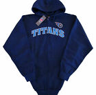 Tennessee Titans NFL Big & Tall Game Time Kickoff Full Zip Hoodie - Blue - NWT