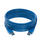 USB 2.0 / 3.0 Data Cable - Charger Tape A Male AM Computer Wire WHITE BLUE BLACK