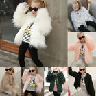 Baby Kids Girls Faux Fur Jacket Snowsuit Warm Cardigan Shaggy Coat Outwear Tops