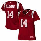 Harvard Crimson Women's Crimson Blitz Football Jersey - College