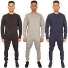 New Mens Full Top Bottom Ribbed Sports Fleece Pants Joggers Sweatshirt Tracksuit
