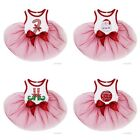 Pets Christmas White Red Tutu Dress Dogs Clothes