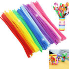 100pcs Chenille Stems Pipe Cleaners Kids Craft Educational Toys Twist Rods JR