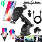 Qi Wireless Car Fast Charger Holder Mount F iPhone X 8 7 Plus Samsung Note 8 S8+